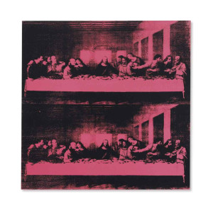 Lot 10 B Andy Warhol (1928-1987) Last Supper synthetic polymer and silkscreen ink on canvas 40 x 40 in. (101.6 x 101.6 cm.) estimate $6,000,000 - $8,000,000  PRICE REALIZED USD 18,727,500