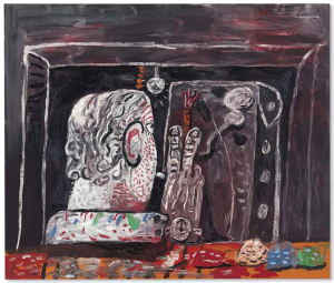 Lot 11 B Philip Guston (1913-1980) Painter at Night oil on canvas 68 x 80 in. (172.7 x 203.2 cm.) 	estimate $8,000,000 - $12,000,000  PRICE REALIZED USD 12,567,500