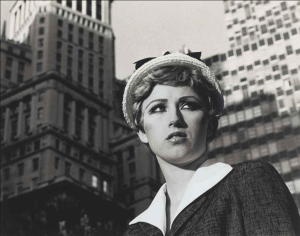 Lot 16 B Cindy Sherman (B. 1954) Untitled Film Still #21 gelatin silver print 8 x 10 in. (20.3 x 25.4 cm.) 	estimate $500,000 - $700,000  PRICE REALIZED USD 871,500