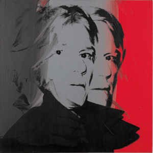 Lot 33 B Andy Warhol (1928-1987) Self-Portrait synthetic polymer and silkscreen ink on canvas 40 x 40 in. (101.6 x 101.6 cm.) 	estimate $2,000,000 - $4,000,000  PRICE REALIZED USD 4,167,500
