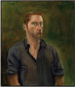 Lot 34 B Albert Oehlen (B. 1954) Selbstporträt mit Offenem Mund (Self-Portrait with Open Mouth) oil on canvas 68 3/4 x 59 in. (174.6 x 150 cm.) 	estimate $3,000,000 - $5,000,000  PRICE REALIZED USD 3,487,500