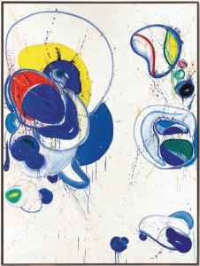Lot 39 B Sam Francis (1923-1994) Why Then Opened II oil and acrylic on canvas 96 7/8 x 72 in. (246 x 182.8 cm.) estimate $3,000,000 - $5,000,000  PRICE REALIZED USD 3,831,500