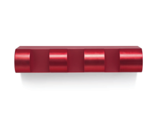 Lot 4 B Donald Judd (1928-1994) Untitled red anodized aluminum 5 x 25 1/2 x 8 3/4 in. (12.7 x 64.7 x 22.2 cm.) estimate $500,000 - $700,000  PRICE REALIZED USD 823,500