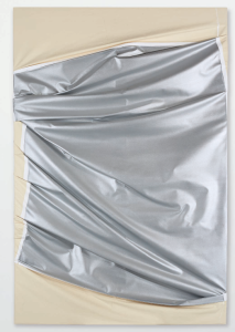 Lot 44 B Steven Parrino (1958-2005) Death in America #1 enamel on canvas 106 1/2 x 70 7/8 in. (270.5 x 180 cm.) 	estimate $800,000 - $1,200,000  UNSOLD