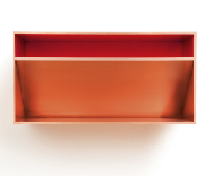 Lot 47 B Donald Judd (1928-1994) Untitled copper and red Plexiglas 19 3/4 x 39 1/2 x 19 3/4 in. (50 x 100 x 50 cm.) 	estimate $1,200,000 - $1,800,000  PRICE REALIZED USD 1,807,500