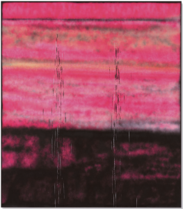 Lot 48 B Sterling Ruby (B. 1972) SP302 spray paint on canvas 96 x 84 in. (243.8 x 213.4 cm.) 	estimate $800,000 - $1,200,000   UNSOLD
