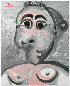 Lot 50 B Pablo Picasso (1881-1973) Buste de femme oil on canvas 32 x 25 5/8 in. (81.1 x 65 cm.) 	estimate $4,000,000 - $6,000,000 UNSOLD