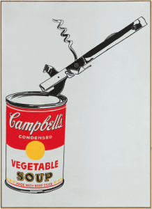 Lot 58 B Andy Warhol (1928-1987) Big Campbell's Soup Can with Can Opener (Vegetable) casein and graphite on linen 72 x 52 in. (183 x 132 cm.) estimate Estimate on request  PRICE REALIZED USD 29,367,500