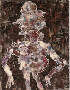 Lot 60 B Jean Dubuffet (1901-1985) Le Truand oil on canvas 45 1/2 x 35 1/8 in. (115.6 x 89.2 cm.) 	estimate $2,000,000 - $3,000,000  PRICE REALIZED USD 5,511,500