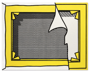 Lot 66 B Roy Lichtenstein (1923-1997) Stretcher Frame Revealed Beneath Painting of a Stretcher Frame oil and Magna on canvas 36 x 46 1/8 in. (91.4 x 117.2 cm.) 	estimate $2,000,000 - $3,000,000  PRICE REALIZED USD 2,887,500