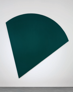Lot 67 B Ellsworth Kelly (1923-2015) Green Panel oil on shaped canvas 103 x 102 in. (261.6 x 259 cm.) 	estimate $2,500,000 - $3,500,000  PRICE REALIZED USD 2,767,500