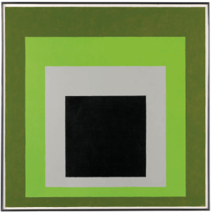 Lot 68 B Josef Albers (1888-1976) Homage to the Square: Sudden Change oil on Masonite 40 x 40 in. (101.6 x 101.6 cm.) 	estimate $500,000 - $700,000  PRICE REALIZED USD 967,500