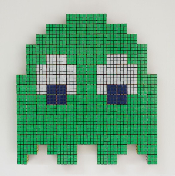 ​Invader_The green ghost, 2008