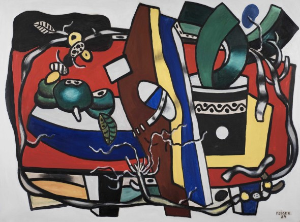 Thomas Gibson Fine Art Composition à la plante verte Fernand Leger (1881-1955) Oil on canvas  97 x 130 cm (38¼ x 51⅛ in.) Signed and dated lower right 'F.LEGER. 39' 1939