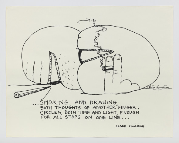 Philip Guston ...Smoking and Drawing ca. 1972 – 1975 © Estate of Philip Guston The Guston Foundation Photo: Genevieve Hanson