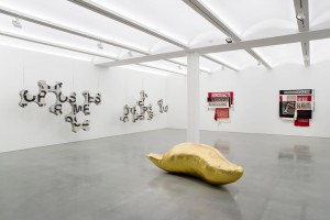 "view of the exhibition ""La Venganza del Amor"" at Galerie Perrotin New York"