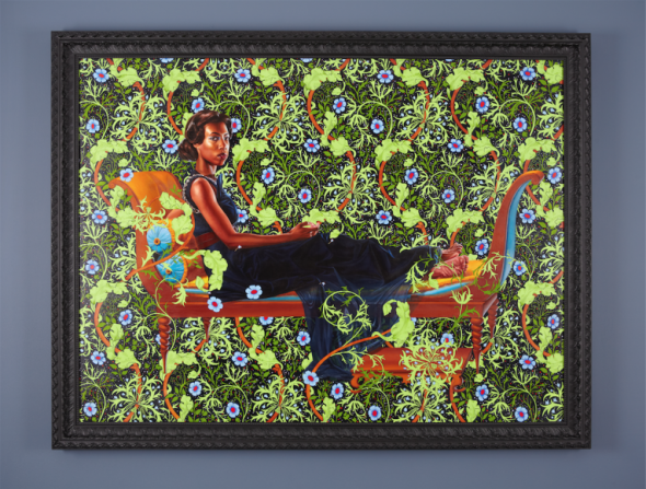Kehinde Wiley, Juliette Recamier, 2012 oil on canvas