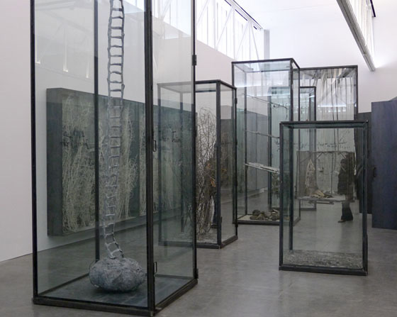 """Anselm Kiefer, """"Next Year in Jerusalem,"""" installation view at Gagosian Gallery"""