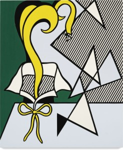 Lot 23 ROY LICHTENSTEIN WOMAN WITH NECK RIBBON Estimate   3,000,000 — 4,000,000 USD PRICE REALIZED  5,187,500 USD