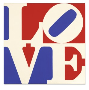 Lot 25 ROBERT INDIANA LOVE Estimate   500,000 — 700,000 USD PRICE REALIZED 2,052,500 USD