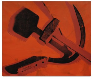 Lot 27 ANDY WARHOL HAMMER AND SICKLE Estimate   6,000,000 — 8,000,000 USD PRICE REALIZED 5,525,000 USD