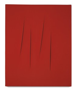 Lot 46 LUCIO FONTANA CONCETTO SPAZIALE, ATTESE Estimate   2,000,000 — 3,000,000 USD PRICE REALIZED  3,132,500 USD
