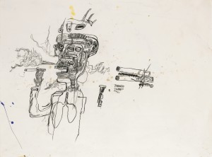 Lot 9 JEAN-MICHEL BASQUIAT UNTITLED (TOBACCO) Estimate   600,000 — 800,000 USD PRICE REALIZED 1,212,500 USD