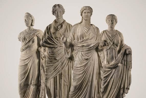 Sotheby's Four Roman Marble figures of women
