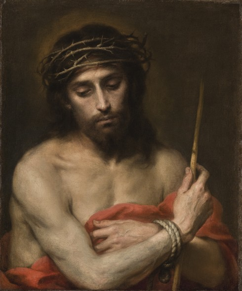 Bartolomé Esteban Murillo SEVILLE 1617 - 1682 ECCE HOMO oil on canvas 63.7 x 53.3 cm.; 25 1/8  x 21 in. Lot Sold   2,746,250 GBP