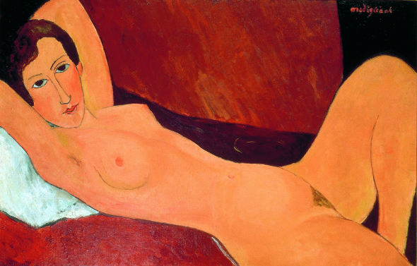 Amedeo Modigliani – Grande nudo disteso (Ritratto di Céline Howard) 1918