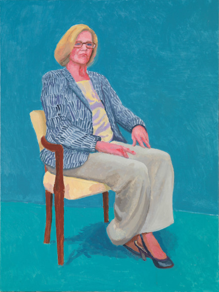 David Hockney Dagny Corcoran, 15th, 16th, 17th January 2014 Acrylic on canvas, 121.9 x 91.4 cm © David Hockney; Photo credit: Richard Schmidt