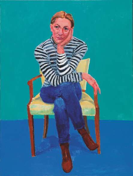 David Hockney Edith Devaney, 11th, 12th, 13th February 2016 Acrylic on canvas, 121.9 x 91.4 cm © David Hockney; Photo credit: Richard Schmidt