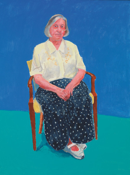 David Hockney Margaret Hockney, 14th, 15th, 16th August 2015 Acrylic on canvas, 121.9 x 91.4 cm © David Hockney; Photo credit: Richard Schmidt