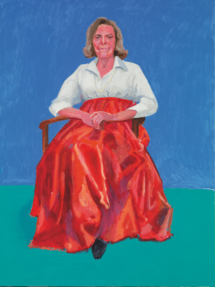 David Hockney Rita Pynoos, 1st, 2nd March, 2014 Acrylic on canvas, 121.9 x 91.4 cm © David Hockney; Photo credit: Richard Schmidt
