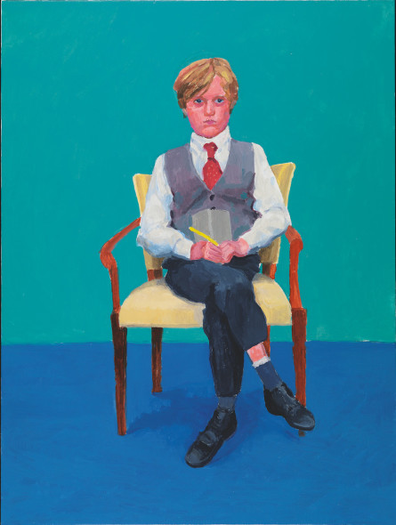 David Hockney Rufus Hale, 23rd, 24th, 25th November 2015 Acrylic on canvas, 121.9 x 91.4 cm © David Hockney; Photo credit: Richard Schmidt