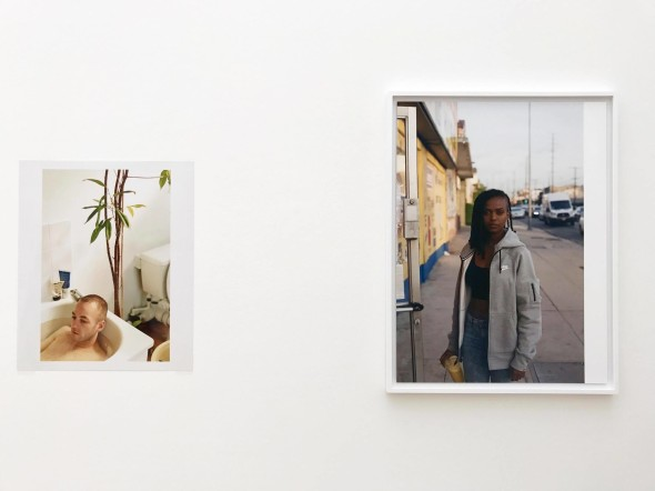 Dalla sinistra WF, Jochen taking a bath (1997); WF, Kelela, Sunset & Vine (2014)