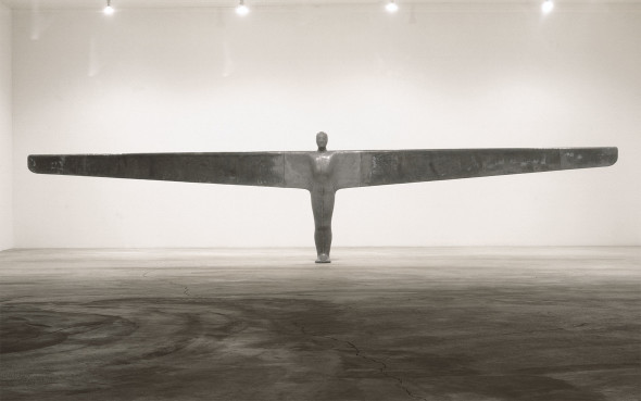 Antony Gormley (b.1950), A Case for an Angel I, 1989. Plaster, fibreglass, lead, steel and air. 197 x 858 x 46 cm. Estimate: £5,000,000-7,000,000.