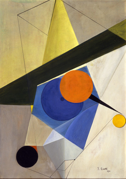 Jean Crotti 1878, Bulle, Switzerland - 1958, Paris Untitled 1920 Gouache and collage on cardboard 49.5 x 35.5 cm The Vera and Arturo Schwarz Collection of Dada and Surrealist Art in the Israel Museum B98.0431