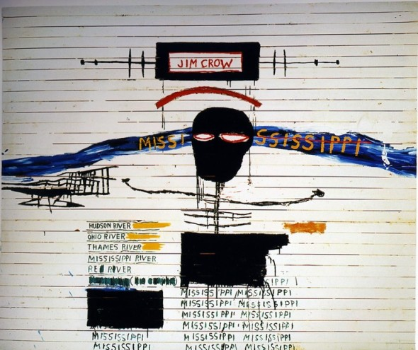 Lot 14 B JEAN-MICHEL BASQUIAT  Jim Crow Price realised  € 15,007,500 Estimate On Request