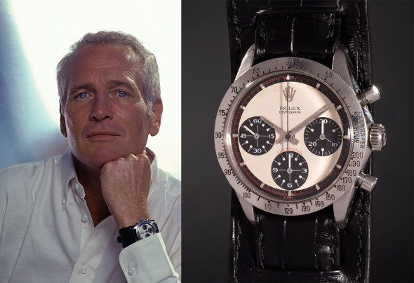"""ROLEX, Ref. 6239 Paul Newman's Rolex """"Paul Newman"""" Daytona An iconic, highly attractive, and historically important stainless steel chronograph wristwatch with off-white dial and tachymeter bezel. WORLD RECORD FOR A WRISTWATCH AT AUCTION In excess of $1 million $17,752,500                       CHF 17,709,894 €15,228,095"""