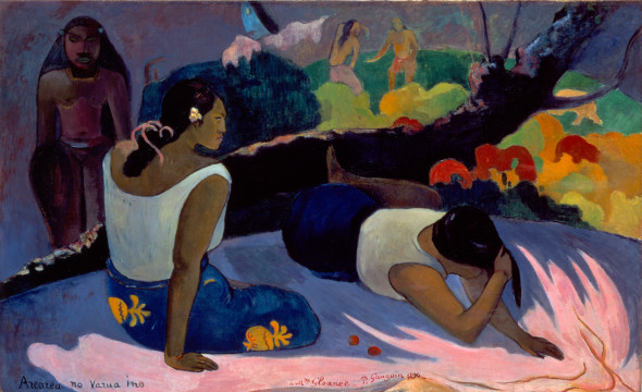 Paul Gauguin, Arearea no Varua ino (Words of the Devil, or Reclining Tahitian Women), 1894