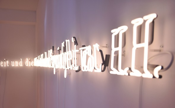 Joseph Kosuth, Notations for thinking. installazione site specific ispirarata a Herman Hesse
