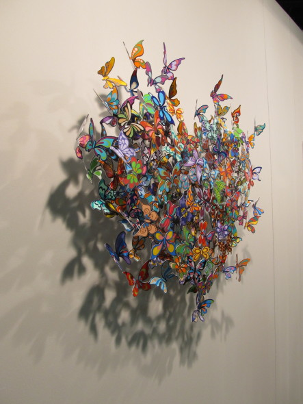David Krakov,  My heart is all a flutter, Galleria Ferrari, Treviglio bouquet di farfalle