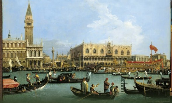 Canaletto's The Bacino di San Marco on Ascension Day, c.1733–4. Photograph: Royal Collection Trust/© Her Majesty Queen Elizabeth II 2016