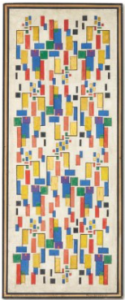 LOT 10 A Theo van Doesburg (1883-1931) Kleurontwerp voor schoorsteenstuk gouache and pen and India ink on paper laid down by the artist on board Image size: 28 ½ x 10 ¾ in. (71.3 x 27.5 cm.) Board size: 29 ¼ x 12 1/8 in. (74.3 x 30.7 cm.) ESTIMATE $400,000 - $700,000   PRICE REALIZED 516,500