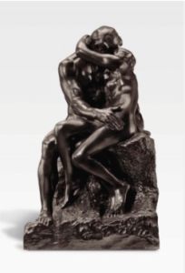 LOT 16 A Auguste Rodin (1840-1917) Le Baiser, 1ère réduction bronze with dark brown patina Height: 27 7/8 in. (70.9 cm.) ESTIMATE $900,000 - $1,200,000   PRICE REALIZED 1,452,500