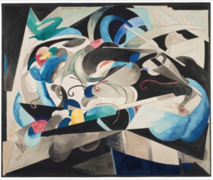 LOT 2 A Francis Picabia (1879-1953) Animation gouache, watercolor and pencil on paper laid down on card 21 1/8 x 25 3/8 in. (53.7 x 64.4 cm.) ESTIMATE $900,000 - $1,200,000   PRICE REALIZED 2,892,500