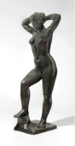 LOT 21 A Aristide Maillol (1861-1944) Baigneuse debout se coiffant bronze with dark green patina Height: 61 ¼ in. (155.6 cm.) ESTIMATE $1,200,000 - $1,800,000   PRICE REALIZED 1,812,500