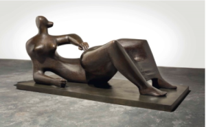 LOT 38 A Henry Moore (1898-1986) Reclining Figure bronze with dark brown patina Length: 97 in. (246.3 cm.) Height: 47 1/8 in. (120 cm.) ESTIMATE $7,000,000 - $10,000,000   PRICE REALIZED 11,000,000