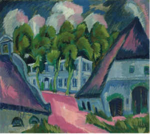 LOT 64 A Ernst Ludwig Kirchner (1880-1938) Gut Staberhof III oil on canvas 32 1/8 x 35 5/8 in. (81.6 x 90.5 cm.) ESTIMATE $4,000,000 - $6,000,000   PRICE REALIZED  4,812,500